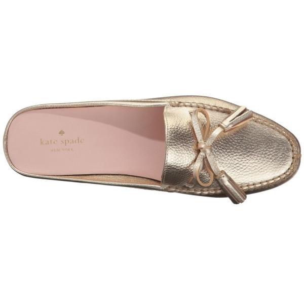ケイト スペード Kate Spade New York レディース ローファー・オックスフォード シューズ・靴 Matilda Gold Tumbled Leather