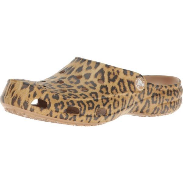 クロックス レディース クロッグ シューズ・靴 Freesail Graphic Clog Leopard