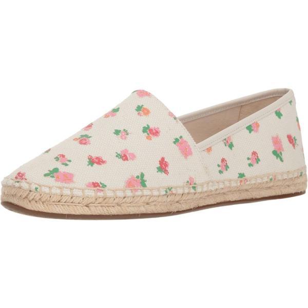 コーチ レディース エスパドリーユ シューズ・靴 Flat Espadrille Pink Multi Floral Canvas