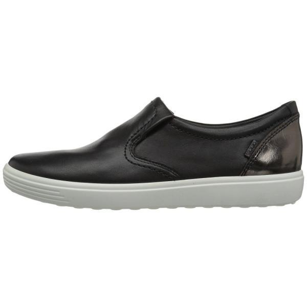 エコー ECCO レディース スリッポン・フラット シューズ・靴 Soft 7 Slip-On Black/Black/Dark Clay Cow Leather/Cow Nubuck