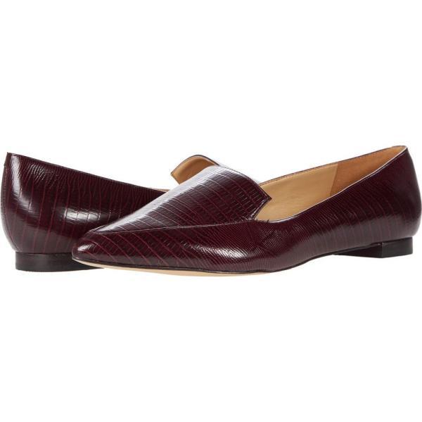 ナインウエスト Nine West レディース スリッポン・フラット シューズ・靴 Abay Flat Dark Red Texture