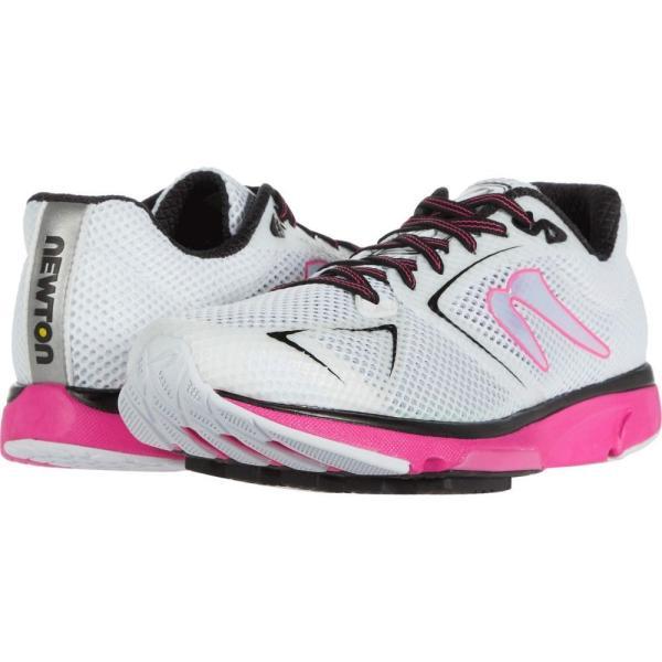 ニュートンランニング Newton Running レディース ランニング・ウォーキング シューズ・靴 Distance S 9 White/Fuchsia