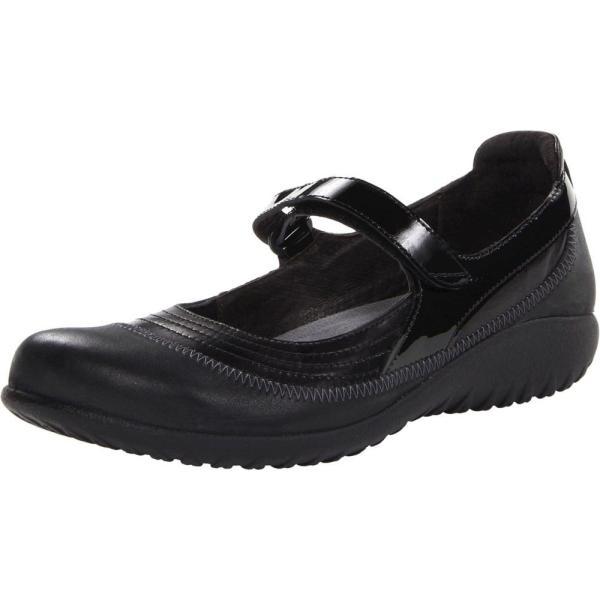 ナオトフットウェアー レディース スリッポン・フラット シューズ・靴 Kirei Black Madras Leather/Shiny Black Leather/Black Patent