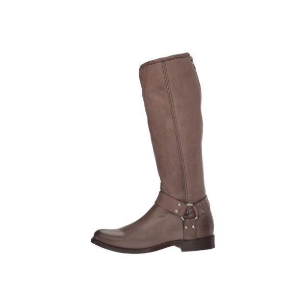 フライ Frye レディース ブーツ シューズ・靴 Phillip Harness Tall Grey Soft Vintage Leather