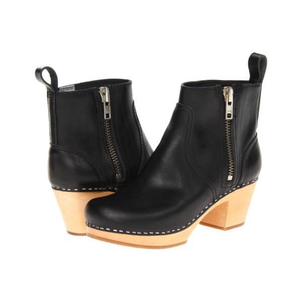 スウェディッシュ ハズビーンズ Swedish Hasbeens レディース ブーツ シューズ・靴 Zip It Emy Black