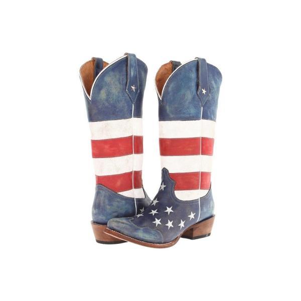 ローパー レディース ブーツ シューズ・靴 American Flag Snip Toe Red/White/Blue