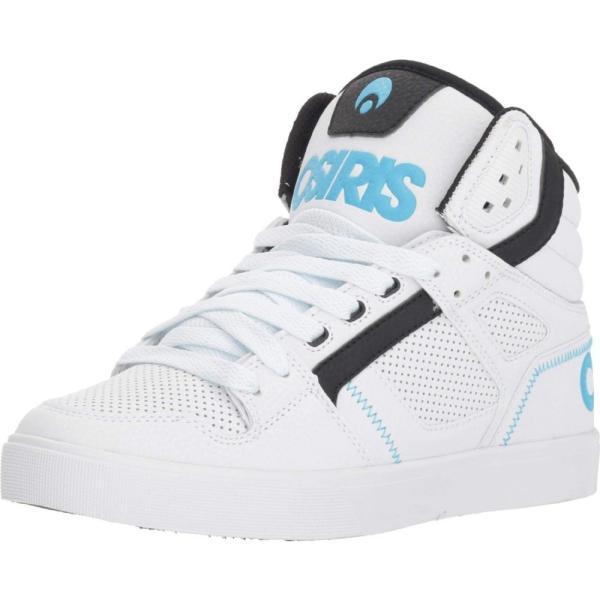 オサイラス Osiris レディース シューズ・靴 Clone White/Black/Light Blue