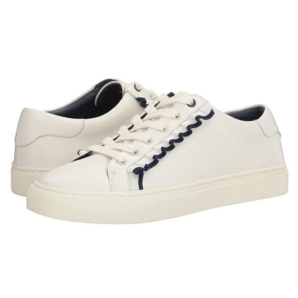 トリー バーチ レディース スニーカー シューズ・靴 Ruffle Sneaker Snow White/Navy Sea