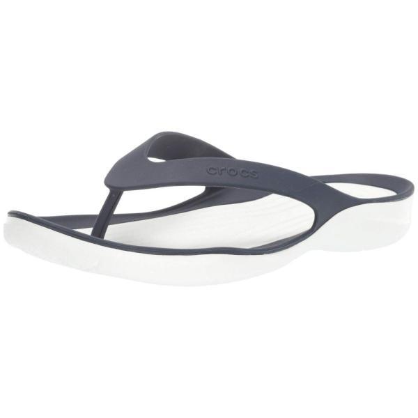 クロックス Crocs レディース ビーチサンダル シューズ・靴 Swiftwater Flip Navy/White