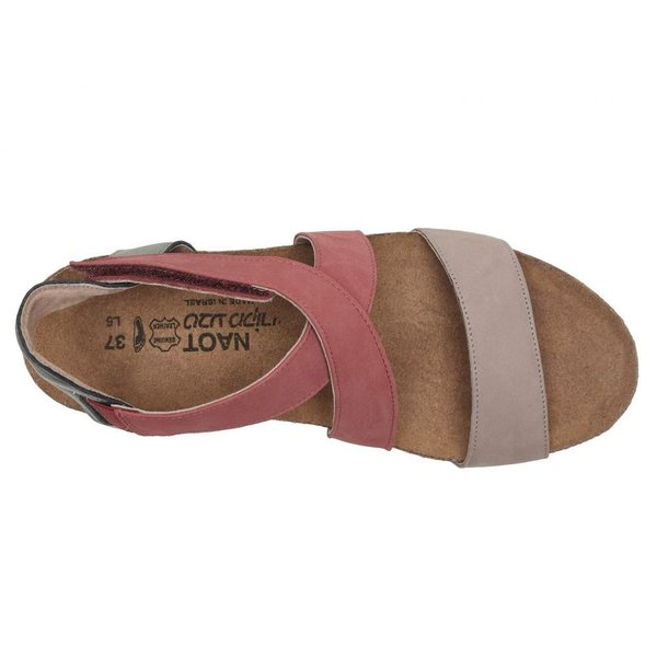 ナオト Naot レディース ヒール シューズ・靴 Vixen Stone Nubuck/Brick Red Leather/Sterling Leather