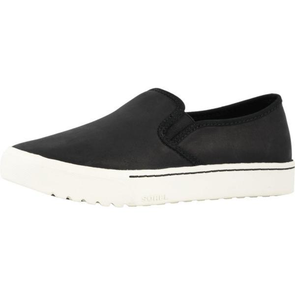 ソレル SOREL レディース スリッポン・フラット シューズ・靴 Campsneak(TM) Slip Black Full Grain Leather