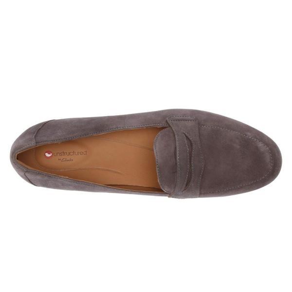 クラークス Clarks レディース ローファー・オックスフォード シューズ・靴 Un Blush Go Dark Grey Suede