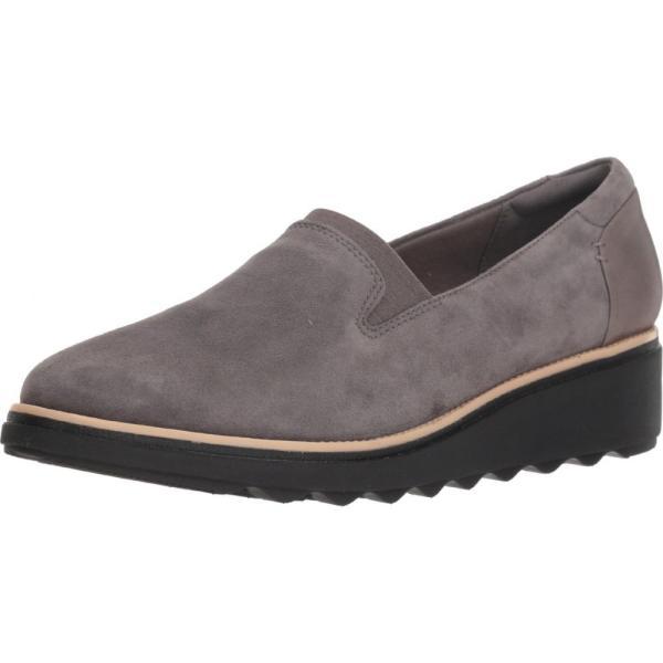 クラークス Clarks レディース ローファー・オックスフォード シューズ・靴 Sharon Dolly Grey Suede