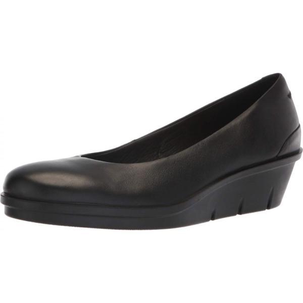 エコー ECCO レディース スリッポン・フラット シューズ・靴 Skyler 45 Wedge Slip-On Black Cow Leather