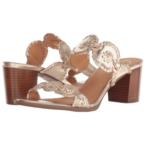 ジャックロジャース Jack Rogers レディース ヒール シューズ・靴 Lauren Mid Heel Platinum/Platinum