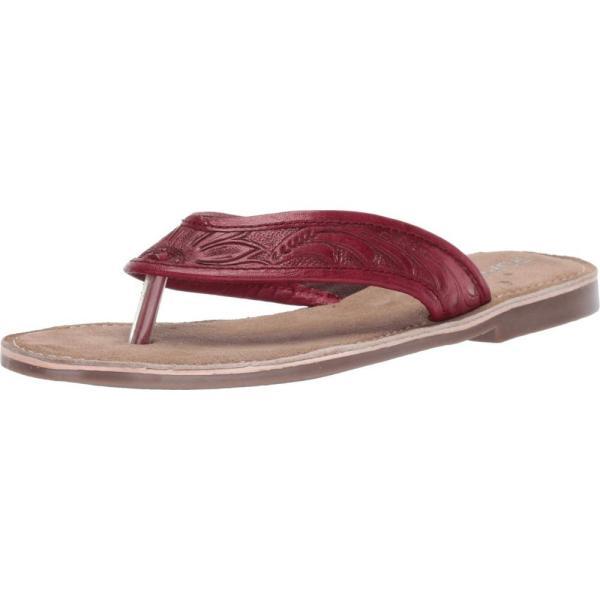 ローパー Roper レディース ビーチサンダル シューズ・靴 Penelope Red Hand Tooled