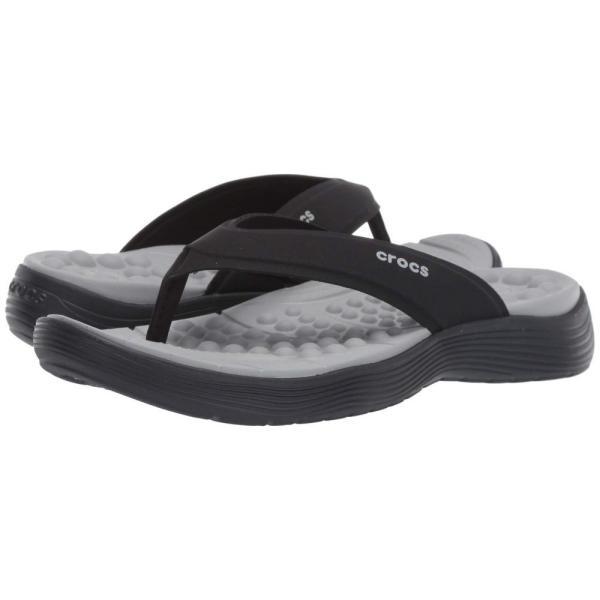 クロックス Crocs レディース ビーチサンダル シューズ・靴 Reviva Flip Black/Black