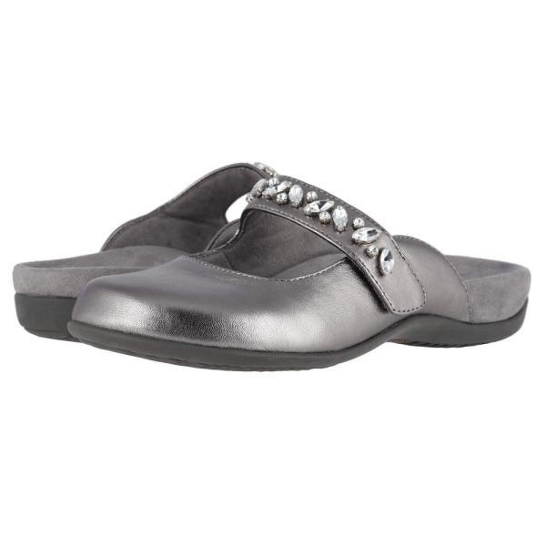 バイオニック VIONIC レディース スリッポン・フラット シューズ・靴 Jenelle Metallic Pewter