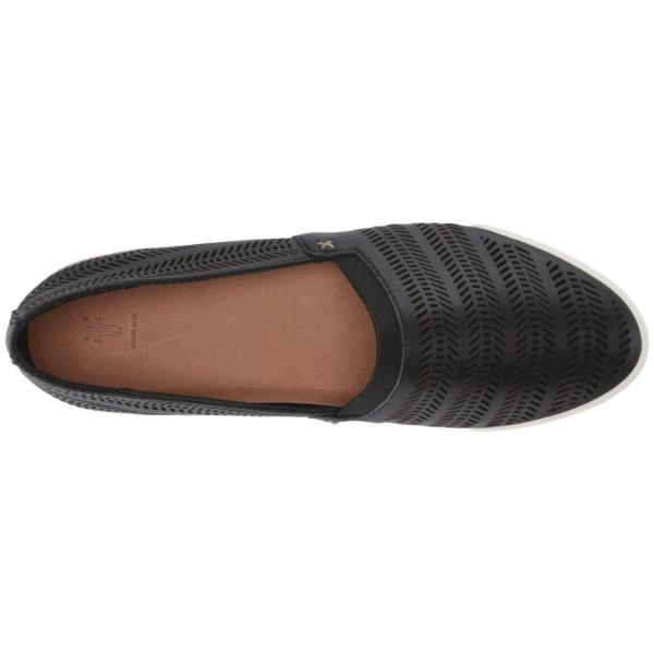 フライ Frye レディース スリッポン・フラット シューズ・靴 Melanie Chevron Slip-On Black