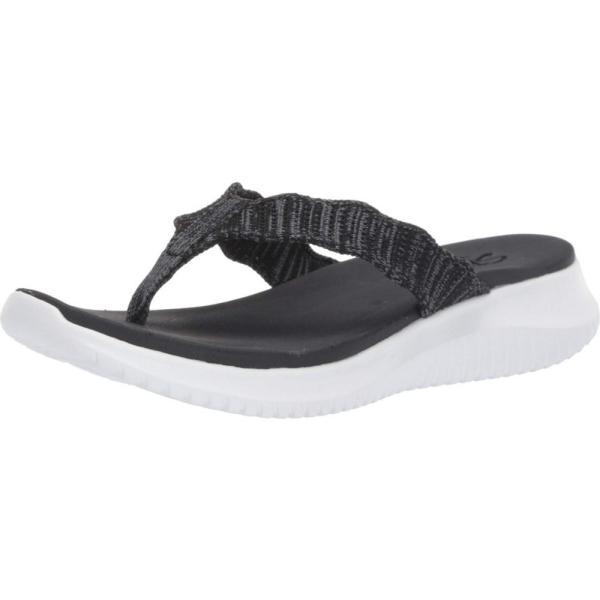 スケッチャーズ SKECHERS レディース ビーチサンダル シューズ・靴 Ultra Flex Black