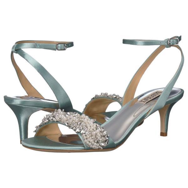 バッジェリー ミシュカ Badgley Mischka レディース ヒール シューズ・靴 Fiona Blue Radiance Satin