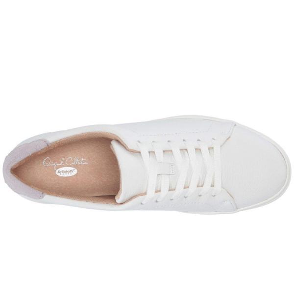 ドクター ショール Dr. Scholl's レディース スニーカー シューズ・靴 Abbot Laced - Original Collection White Tumbled Leather