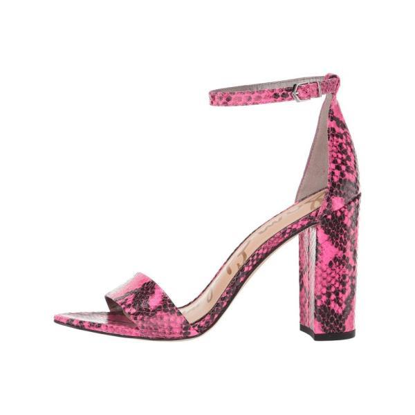 サム エデルマン Sam Edelman レディース サンダル・ミュール シューズ・靴 Yaro Neon Pink Snake Print Leather