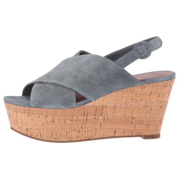 ダイアン フォン ファステンバーグ Diane von Furstenberg レディース サンダル・ミュール シューズ・靴 Juno Wedge Blue Sport Suede