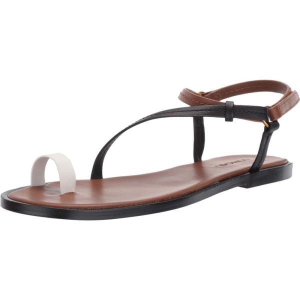 ヴィンス Vince レディース サンダル・ミュール シューズ・靴 Perrigan Black/Tan Indios Leather