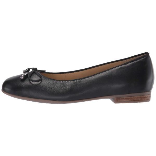 アラ ara レディース スリッポン・フラット シューズ・靴 Scout Black Nappa Leather