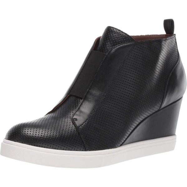 リネアパウロ LINEA Paolo レディース スニーカー シューズ・靴 Felicia Wedge Sneaker Black Perforated Nappa