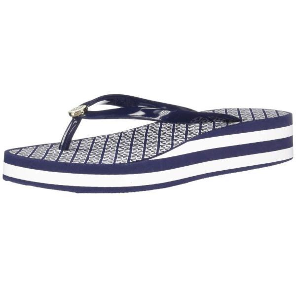 ハットレイ Hatley レディース ビーチサンダル シューズ・靴 Agnes Wedge Sandals Navy Blue Triangles