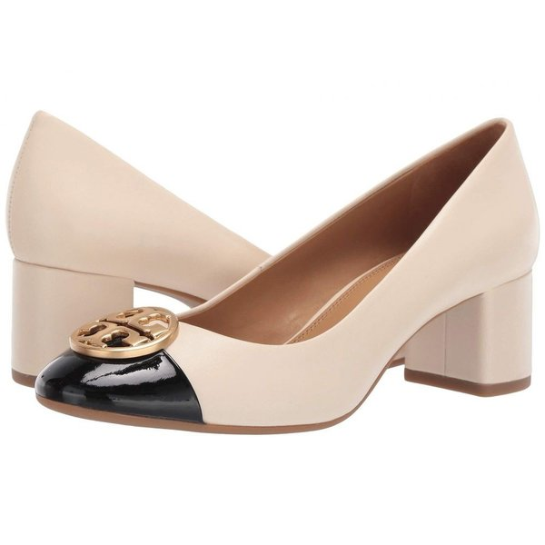 トリー バーチ Tory Burch レディース パンプス シューズ・靴 50 mm Chelsea Cap-Toe Pump New Cream/Perfect Black