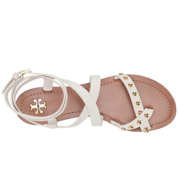 トリー バーチ Tory Burch レディース サンダル・ミュール シューズ・靴 Ravello Studded Ankle-Wrap Sandal Perfect Ivory