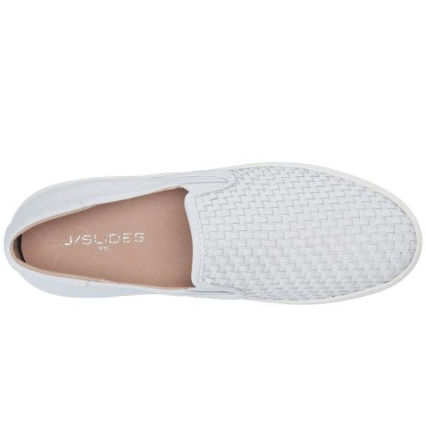 ジェイスライド J/Slides レディース スニーカー シューズ・靴 Halsey White Leather