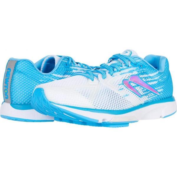 ニュートンランニング Newton Running レディース ランニング・ウォーキング シューズ・靴 Distance 10 White/Sky Blue