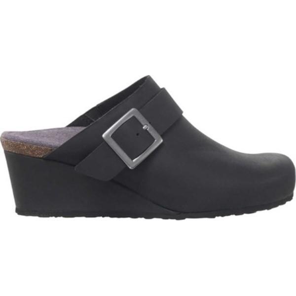 エイトレックス レディース クロッグ シューズ・靴 Amelia Wedge Black Leather