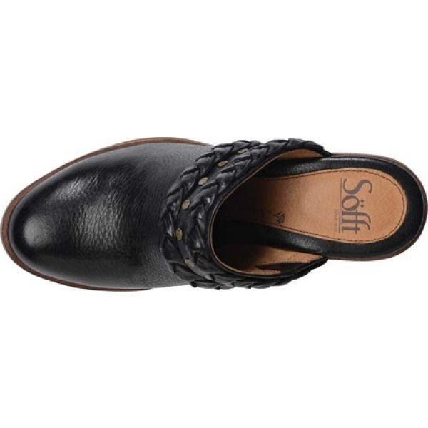 ソフト Sofft レディース クロッグ シューズ・靴 Solano Clog Black Full Grain Leather