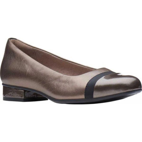 クラークス Clarks レディース スリッポン・フラット シューズ・靴 Juliet Monte Slip-On Pewter Leather