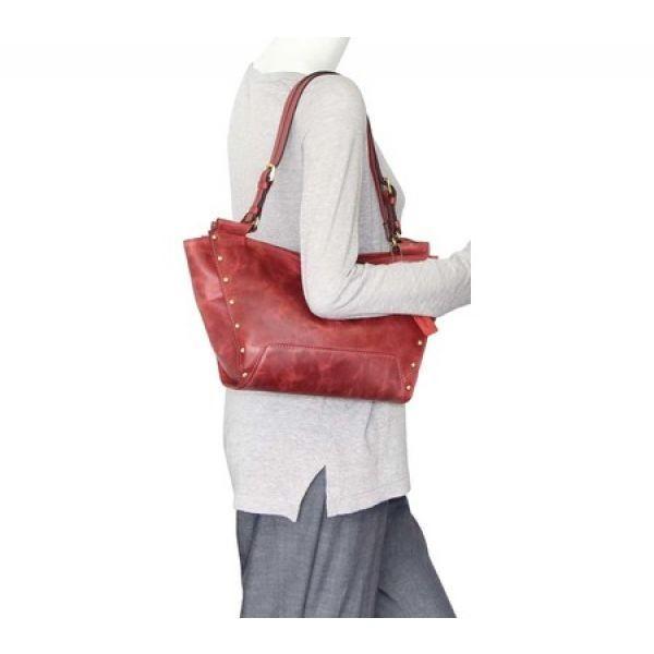 ニノボッシー Nino Bossi レディース ハンドバッグ バッグ Monica Leather Satchel Red
