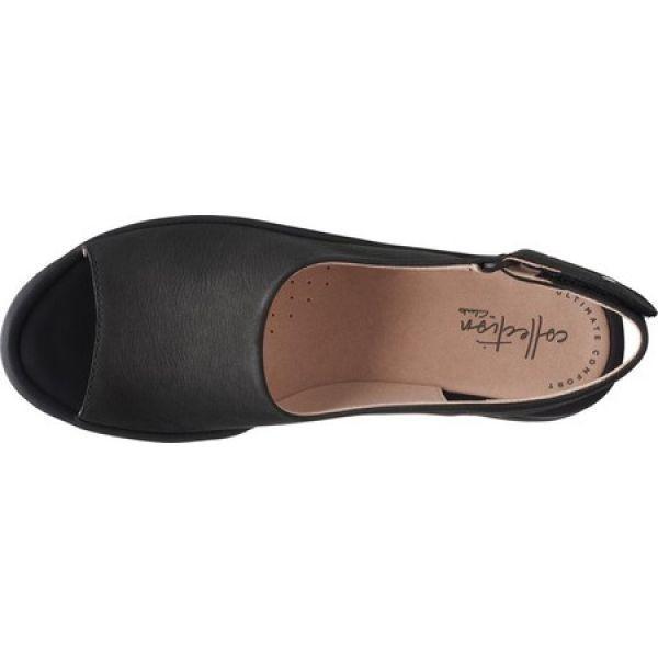 クラークス Clarks レディース サンダル・ミュール ウェッジソール シューズ・靴 Reedly Shaina Wedge Sandal Black Nubuck|fermart-shoes|05