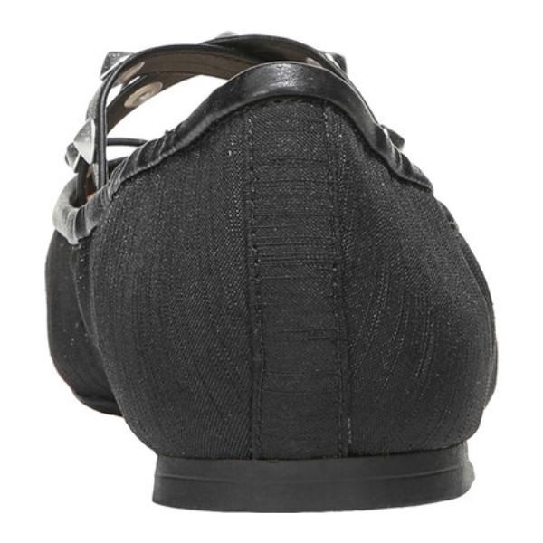 サム エデルマン レディース スリッポン・フラット シューズ・靴 Cayenne Flat Black Silk