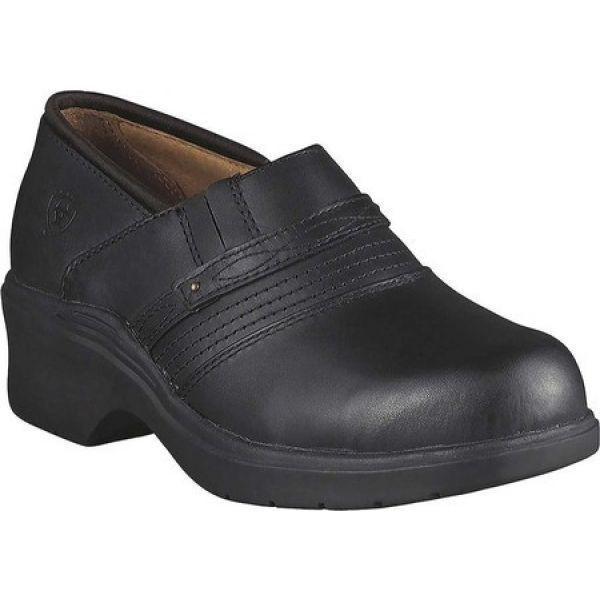 アリアト Ariat レディース シューズ・靴 クロッグ Safety Clog Black Full Grain Leather