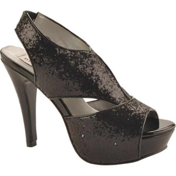 ダイエイブルズ レディース ローファー・オックスフォード シューズ・靴 Kat Black Glitter