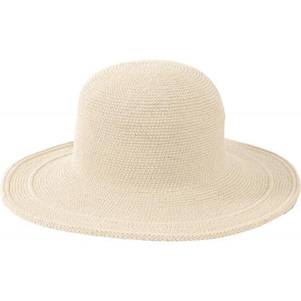 サンディエゴハット San Diego Hat Company レディース ハット 帽子 Cotton Crochet Hat Large Brim CHL5 Natural