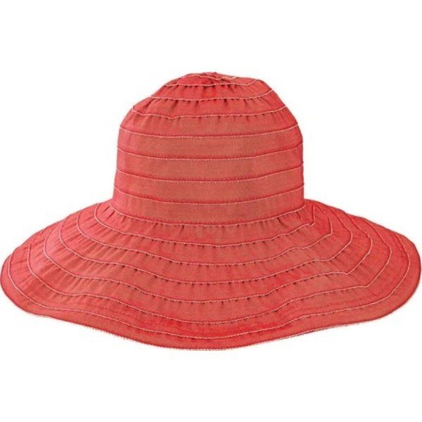 サンディエゴハット レディース ハット 帽子 Wide Ribbon Wired Sun Brim Hat RBL4793 Red