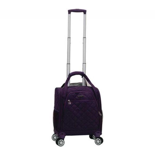 ロックランド Rockland レディース スーツケース・キャリーバッグ バッグ Melrose Wheeled Underseat Carry-On Spinner Purple