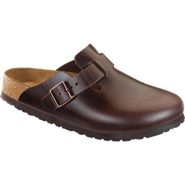 ビルケンシュトック Birkenstock レディース シューズ・靴 クロッグ Boston Amalfi Leather Soft Footbed Brown Amalfi Leather