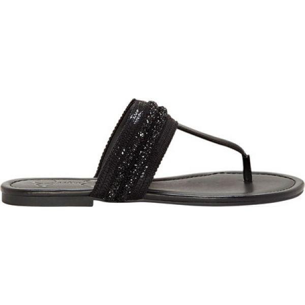 ジェシカシンプソン レディース ビーチサンダル シューズ・靴 Kina Thong Sandal Black Synthetic