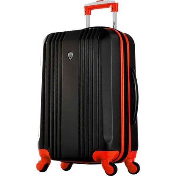"""オリンピア Olympia メンズ スーツケース・キャリーバッグ バッグ Apache II 21"""" Carry-On Suitcase Black/Red"""